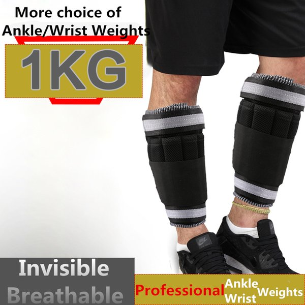 Ankle / Wrist Weights (1 KG / Pair ) for Women, Men and Kids - Fully Adjustable Weight for Arm& Leg - Best Walking, Jogging