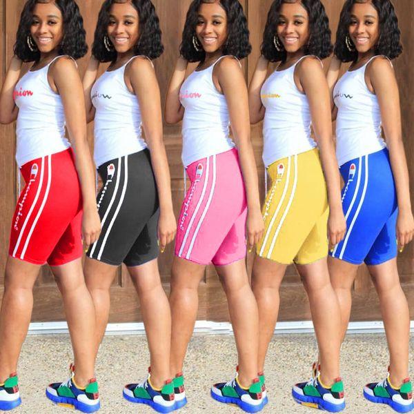 best selling Women 2 piece sports set tracksuit sportswear gym short Sleeve Ladies Camisole t-shirt Bodycon leggings shorts Plus size summer clothing 76