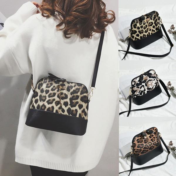 femmes sacs vintage messager femmes imprimé léopard Sac bandoulière Fawn Sac Shell épaule Pendentif Messenger Bolsa Feminina