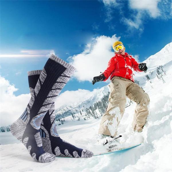Acquista 1 Paio Inverno Caldo Uomo Donna Termica Calze Da Sci Sport Esterni Spesso Ciclismo Asciugamano Di Cotone Calze Snowboard Arrampicata