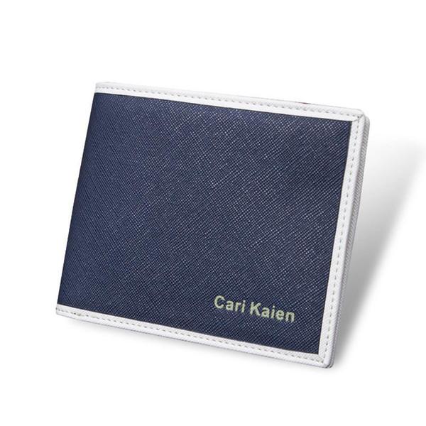c3b4fbbd9 Hombre Cartera Casual Estilo de la moda Titular de la tarjeta de cuero  Cartera sintética Bolsillo