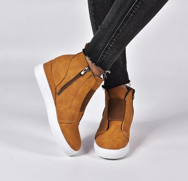 chaussures de style chaud occasionnels de grande hauteur plate-forme unique de femmes à semelles épaisses chaussures à semelles nouvelles femmes à faible top 35-43