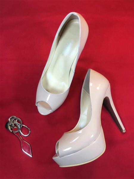 women Sexy High Heels red bottom Dress shoes Nude black red Peep Toe Platform Stiletto prom shoes luxury designer High Heels women shoesA5