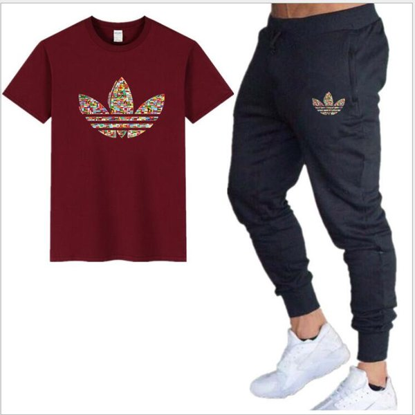 Männer Set Sommer Hip Hop T Shrits + Short Casual Style O Neck Halbe Hülse Männer Trainingsanzug Zweiteiler Männer Kleidung 2019