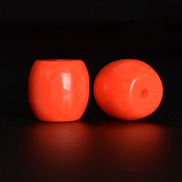 wholesale 10/12mm Red Cylindrical Resin Beads Accessories Spacer Beads For Jewelry Making