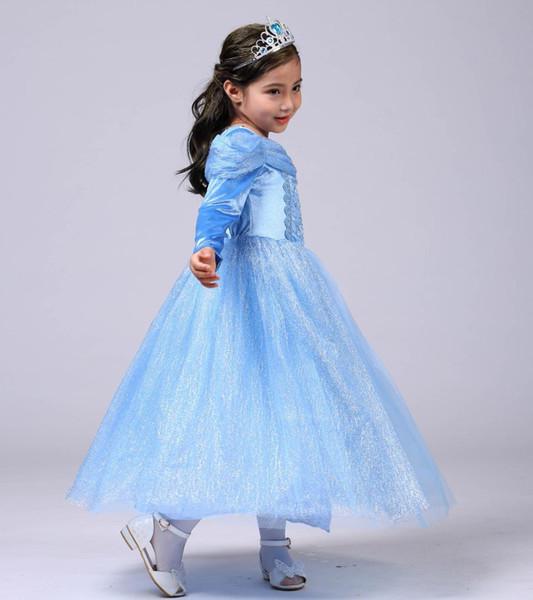 Children Clothing Dress Elegant Kids Dresses for Girls Long Sleeve Princess Vestido Cinderella Halloween Clothes 4-10 Y GDR550