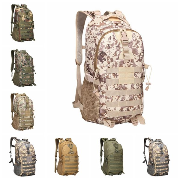best selling Camouflage Tactical Backpack 9 Colors Male Military Camo Multifunctionl Army Bag Waterproof Oxford Travel Sports Bags 5pcs OOA6164