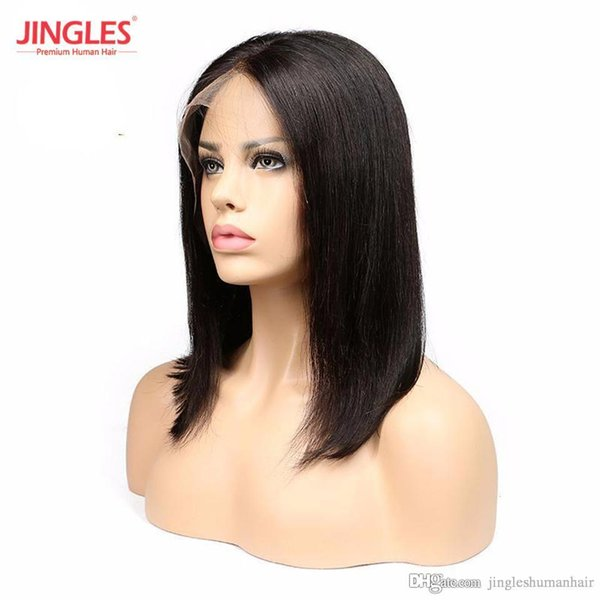 Bleached konts Brazilian Remy Human Hair Full lace Wigs Straight Cuticle Aligned Unprocessed Bob Cut Human Virgin Hair Wigs