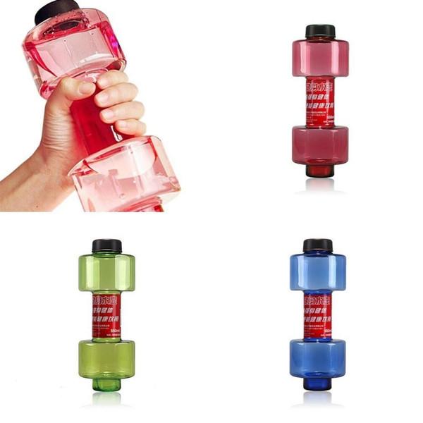 3 Farben Sport Wasserflaschen 550ml Auslaufsicher Tragbar Unzerbrechlich Mein Sport Plastikflaschen Shaker BPA Fitness Hantel Unisex
