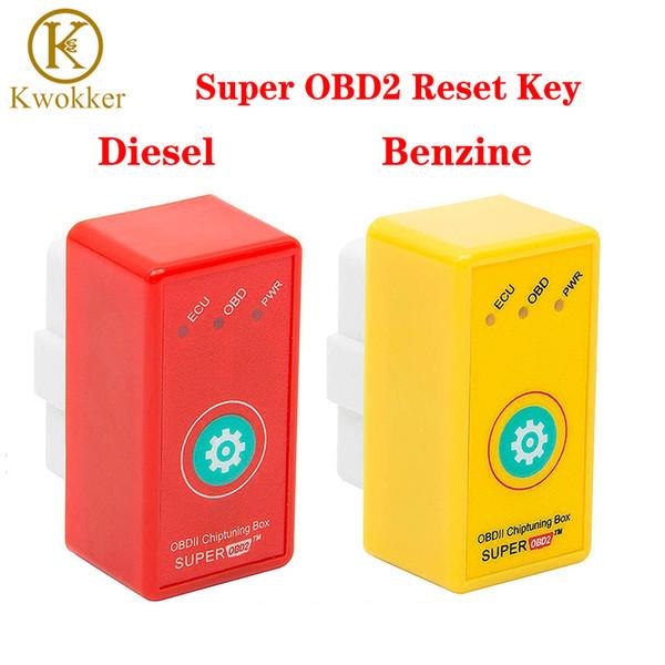 KWOKKER super OBD2 ECU Chiptuning Box touche Reset voitures Super OBDII ECU programmeur Plus de puissance / couple voiture tournant OBD PWR