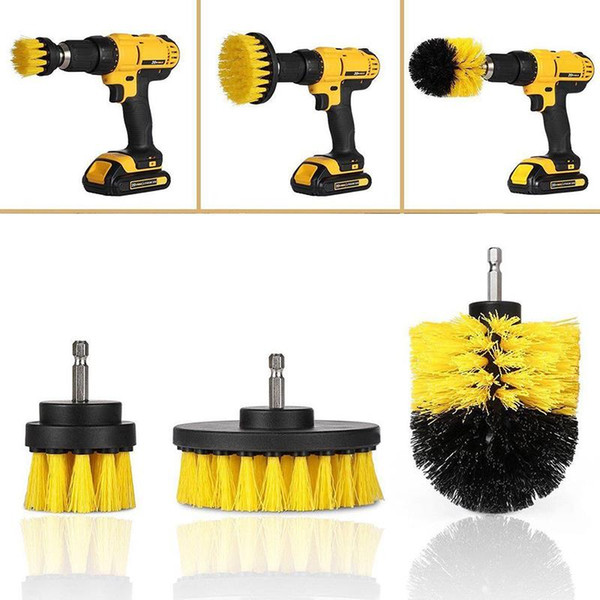 top popular 3pcs Set Drill Scrubber Brush Kit for Tile Grout Car Boat RV Tub Cleaner Scrubber Cleaning Tool Brushes Cleaning Kit 2021