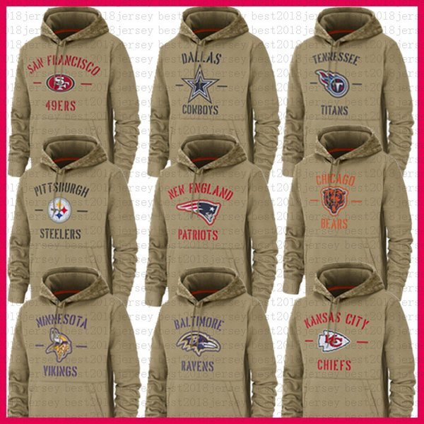 Pittsburgh Steelers Hoodies Minnesota Viking Chicago Jackets San Francisco Ours 49er chef Cowboy Ravens