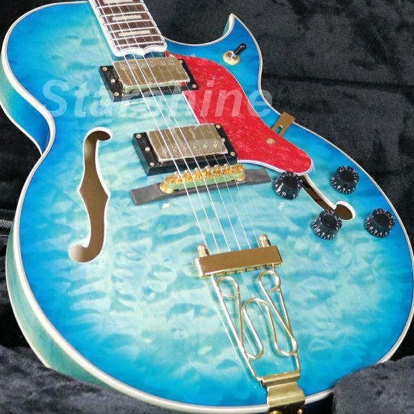 JEb6083 G-Byrdland Hollow Vücut Electic Gitar Yorgan Maple Top Kaplama Golld Donanım Grover Tuner