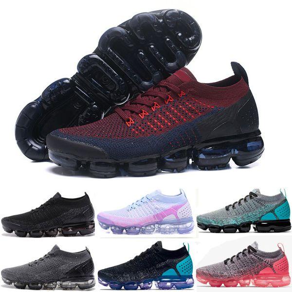 2019 Trainer v2 Scarpe da corsa Uomo Donna Air Cushion Sneakers di design Nero Bianco Sport Shock da jogging Walking Hiking Atletica Scarpe da esterno