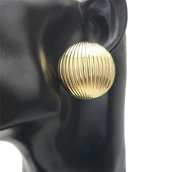 Semi-Ball Stud Earring Drop Dangle Chandelier Earrings for Women Vintage Fashion Ball shape punk Style Jewelry Earring Wholesale