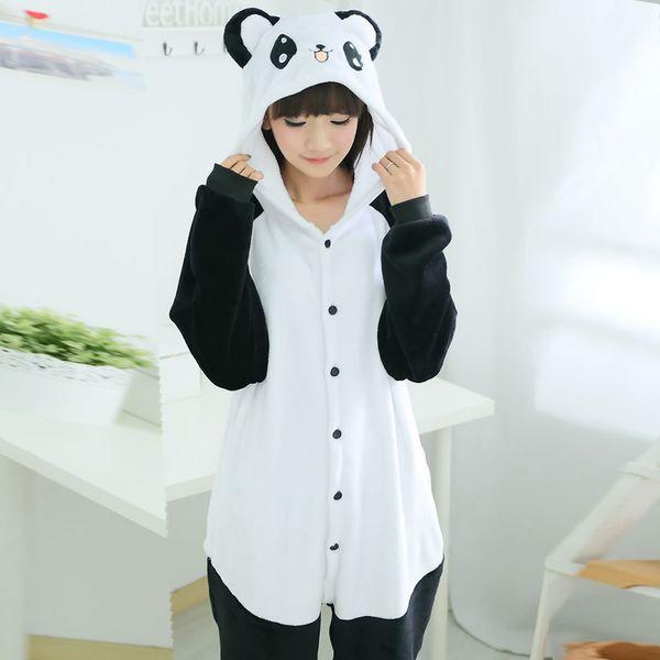 Anime Pajamas Onesie Kigurumi Panda Pijama Kids Girls Sleepwear Jumpsuit For Boys Child Adult Men Onesie Gowns Home Clothing J190520