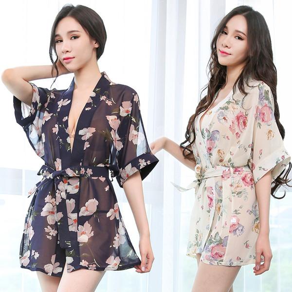 Kadın Seksi Pijama Gecelik Lingerie Underdress See-through Gecelik Modelleme Bayanlar Severler Için Ortak Housedress uw7