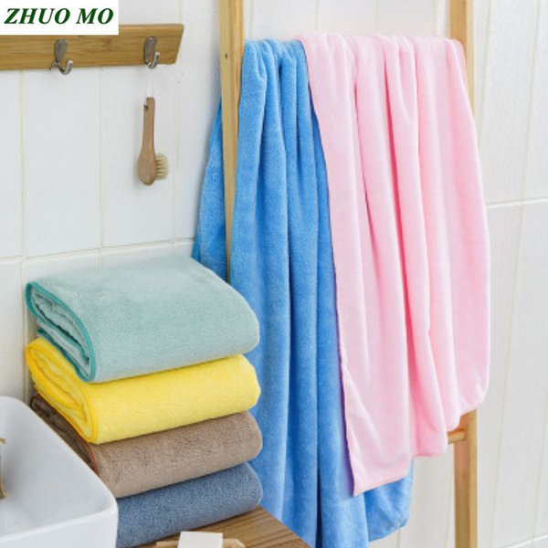 Soft Microfiber bath towel For Adults Super absorbent Towel Bathroom for home Shower travel gift Thick Men women Beach towel
