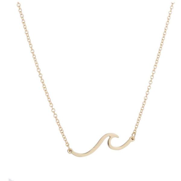 Les femmes coréennes vague forme pendentif collier style simple mode chaud nouveau design vague collier usine de bijoux en gros livraison gratuite