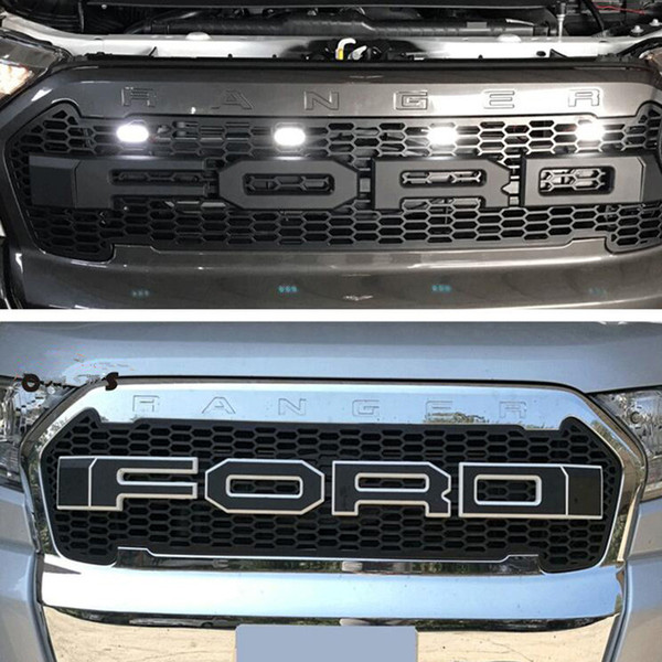 New Car Stlying Grill For Ford Ranger 2015-2017 ABS Front Grill Black Radiator Grills For Ranger Wildtrak T7