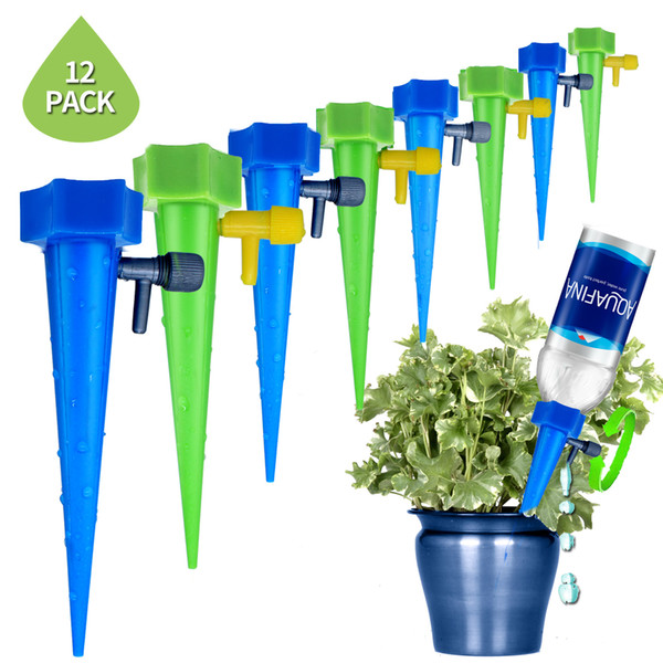 top popular Plant Waterer Self Watering Devices, Vacation Plant Watering Spikes Automatic Drip Irrigation Water Stakes System (Pack of 12) 2021