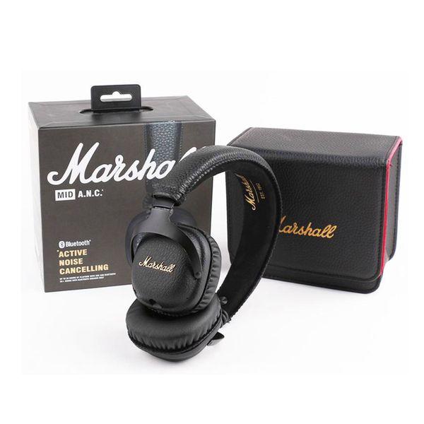 Marshall Mid ANC Headphones Auriculares con cancelación activa de ruido con Bluetooth Deportes Deep Bass DJ Hifi Estéreo inalámbrico en la oreja Auriculares DHL