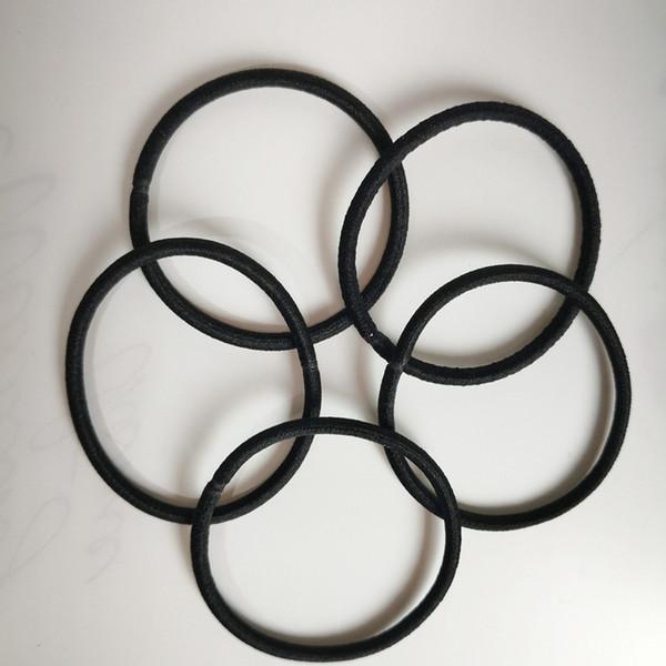 3 mm negro elástico hairbands para las mujeres de moda las mujeres elásticos accesorios para el cabello para el cabello elástico bandas para el cabello scrunchie