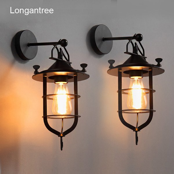 Vintage Wall Lamp Indoor Industrial Wall Light Antique Metal Loft Retro Country Iron Sconce Bar Cafe Home Lighting E27 110V