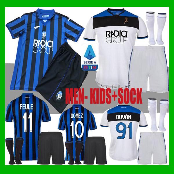 homens crianças kit 2019 Serie A Atalanta BC camisa de futebol 19 20 casa DUVAN GOMEZ Feule Iličić Pašalić camisas de futebol camisas