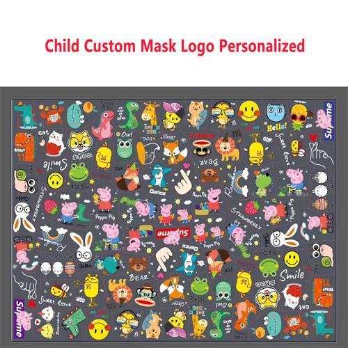 Máscara de encargo del logotipo del niño