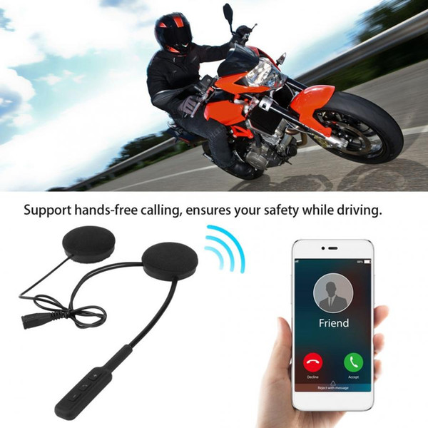 Универсальный мотоциклетный шлем BT Гарнитура Hi-Fi Наушники Поддержка вызова по громкой связи Звуковое напоминание Громкая связь
