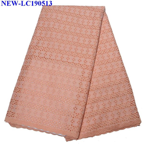 2019 Best Selling Swiss voile lace African Nigerian French 100% cotton Fabric High Quality with Stones cotton Lace Fabric NHX013