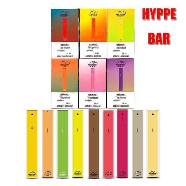 top popular HYPPE BAR Disposable Device Pod Kit 280mAh Battery 1.3ml Cartridges Anti Leak Vape Pen VS POP Puff Posh Plus EON 2020