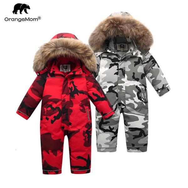 brand Orangemom official 2019 Children's Clothing ,winter 90% down jacket for girls boys snow wear ,baby kids coats jumpsuitMX190916