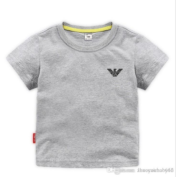 top popular 2019 new brand designer brand 2-8 years old Baby boys girls T-shirts 2020 summer shirt Tops cotton children Tees kids Clothing 2 colors 2020
