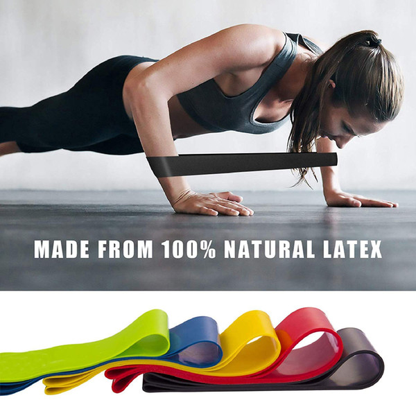 High Quality Resistance Loop Exercise Bands Latex Workout Bands Yoga Pilates Band Women Men Home Equipment Fitness Crossfit Training M225F