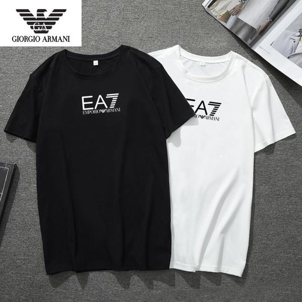 Printemps et en été nouvelle mode respirante confortable T-shirt à manches courtes col rond hommes sauvages impression lettre