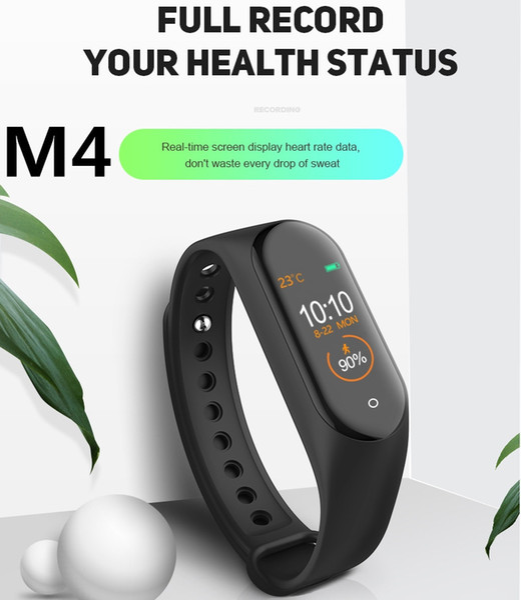 M4 Smart Tracker Fitness Tracker PK Mi Band 4 Fitbit Style Smart Watch da 0,96 pollici IP67 Impermeabile frequenza cardiaca