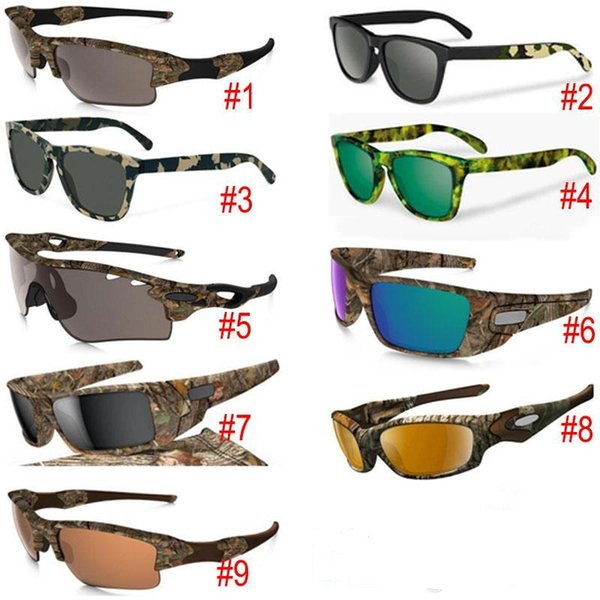New Camouflage Camo Designer Sunglasses sunglasses Eyewear Sun glass frame sunglasses 9 models with zipper case packages 1pcs