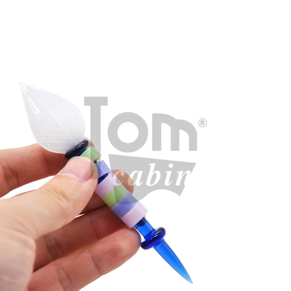 4.80 Inches Glass Dabber Tool Pen Dabber Tools Oil Wax Dab Tool with Quartz Bong Carb Cap For Pyrex Oil Rig Glass Bong Smoking Water Pipe