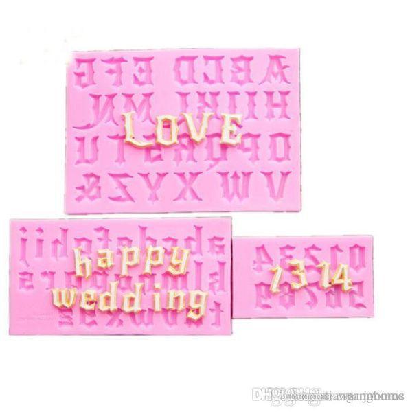 Fábrica de atacado uma letra do terno biscoitos de chocolate cubo de gelo molde de silicone bandeja de cozimento molde do bolo fabricante diy molde de gelo cor rosa diy moldes
