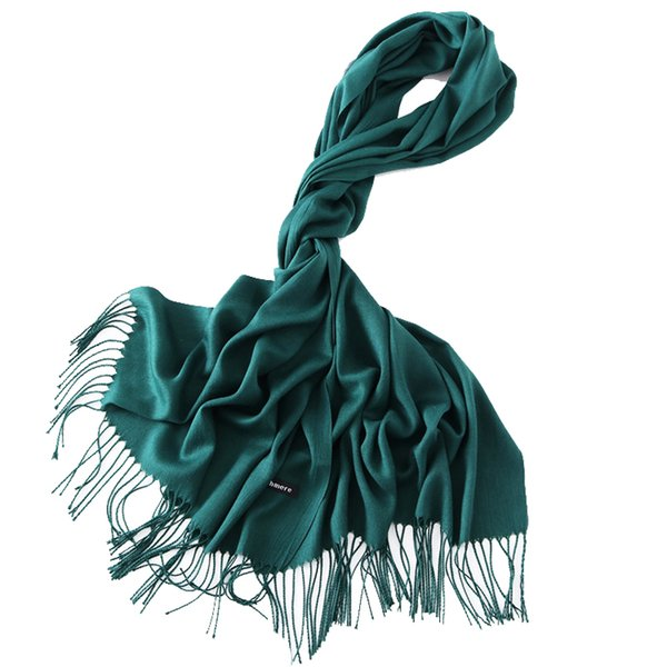 2019 Classic Spring Scarves for Women Solid Wraps and Shawls Foulard Female Plain Pashmina Hijab Stole Ladies Cashmere Scarf New