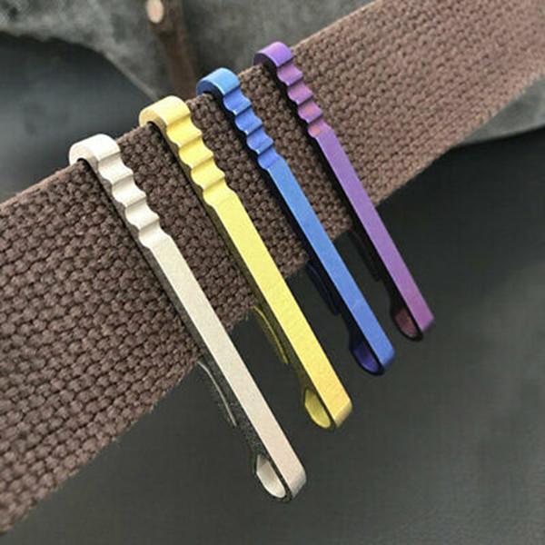 Creativo cintura portachiavi in titanio ultra leggero appeso fibbia esterna EDC morsetto clip appeso portachiavi fibbia ad anello ZZA926