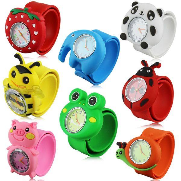 top popular Fashion kids children 3D cartoon cute animal slap sport watches wholesale boys girls candy jelly birthday gift wrist watches 2020