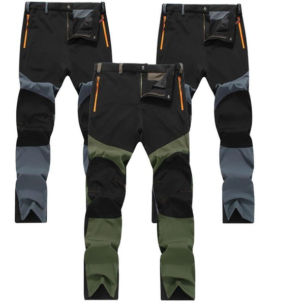 Caminhadas ao ar livre Mens Warm Thin Calças Windproof Waterproof Trekking Pants Cargo Pants