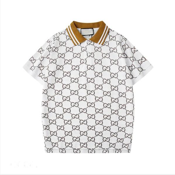 New 2020 Marque Designer Polos Hommes Casual Polo mode Méduse T-shirt d'impression de luxe Rue principale, Rue des hommes Porter Sport S-2XL Polos