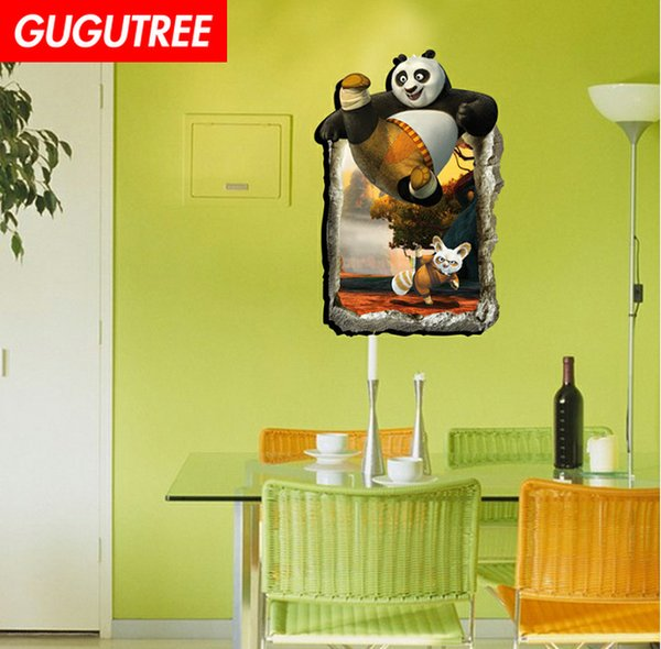Decorate home 3D panda cartoon art wall sticker decoration Decals mural painting Removable Decor Wallpaper G-947