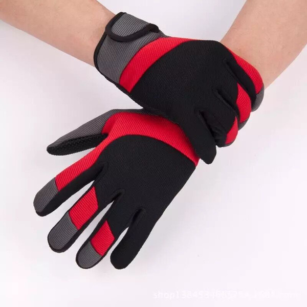 Sonbahar ve kış erkek ve kadın tüm- parmak sporları sürme eldivenleri anti- patinaj nefes uzun- parmaklı açık sürme eldiven
