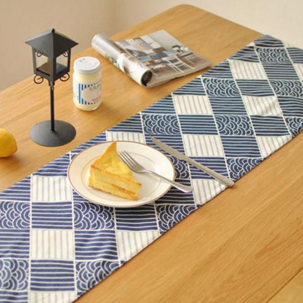Table Cloth Japan Style Cotton Linen Vintage Home Hotel Decor Restaurant Gadget Dining Table Decoration Accessories