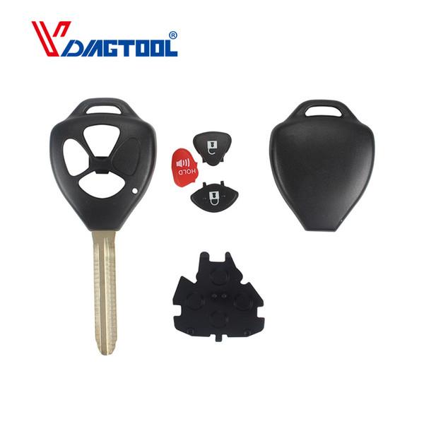 3 Tasten Fernbedienung Autoschlüssel Shell Case Fob Ersatz für Camry Cover Blank 2 + 1 Tasten Kein Logo
